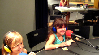 Children in SLB Radio studios 6