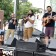 The Shelf Life String Band performs at the Foreland and Middle Street stage
