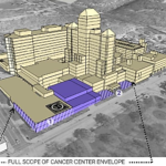A look at the proposed cancer center on North Ave. and Sundusky St. as marked in purple.