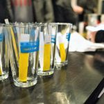 Complimentary 'Imbibe Northside' pint glasses. Photo credit: Rebecca Lessner