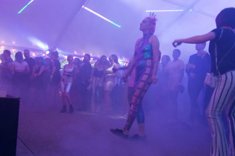 Mattress Factory Urban Garden Party Transported Guests 40 Years Into the Future