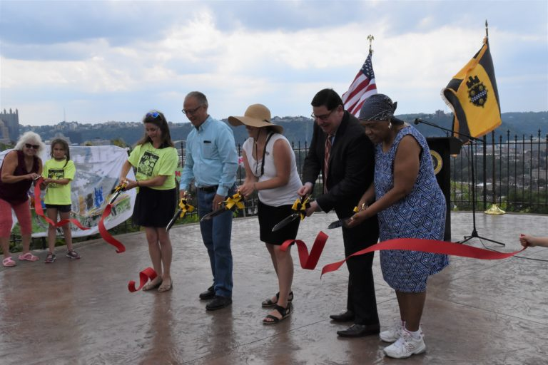 """Ribbon cutting ceremony for renovated Fineview Overlook marks start of more """"neighborhood priority projects"""""""