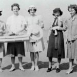 Some of the first female aviators: Frances Allen, Louise Thaden, Teresa James, Vee Shakarian and Helen Richey.