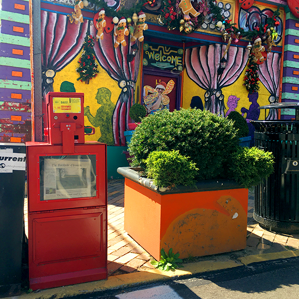 the northside chronicle newspaper box at randyland