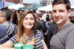 Samantha Lynch, 22 of Greentree celebrating Picklesburgh with Boston native Matt Morello, 22  photo credit Neil Strebig.jpg