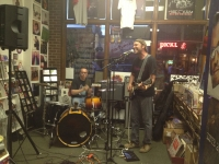 Stedeford's Records hosted several bands on East Ohio Street.